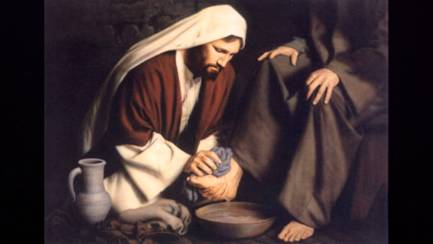Simple - Jesus washing feet