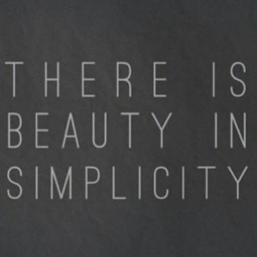 Simplicity- beauty