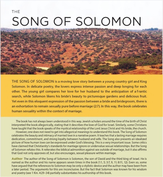 NKJV SB - Intro to the Song of Solomon